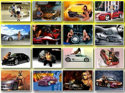 Скачать обои для рабочего стола на тему Девушки и автомобили № 1