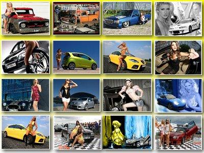 Скачать обои для рабочего стола на тему Девушки и автомобили № 2