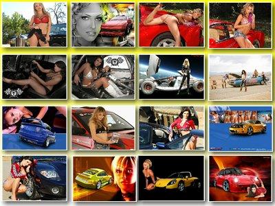 Скачать обои на тему Девушки и автомобили № 1