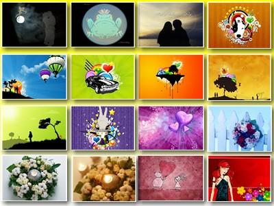 Скриншот № 2 обоев на тему: букет в виде сердца; свечи; романтические цветочки влюблённыи; День Св. Валентина; романткам; для любимых.