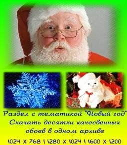 Подробнее о обоях в архивах rar на тему: Новый год и Рождество